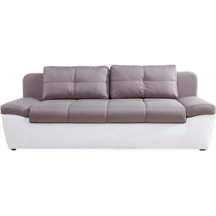 Canap convertible 3 places switsofa solo taupe achat for Canape 4 places convertible