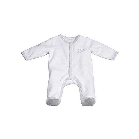 Pyjama b/éb/é blanc ours 1 mois C/éleste Sauthon
