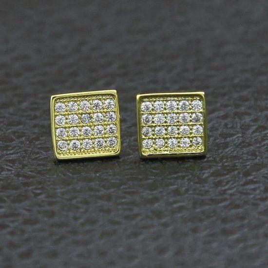 18K or jaune rempli Femmes Clair Topaz Zircon Noeud Boucles D/'Oreilles Pendantes Bijoux