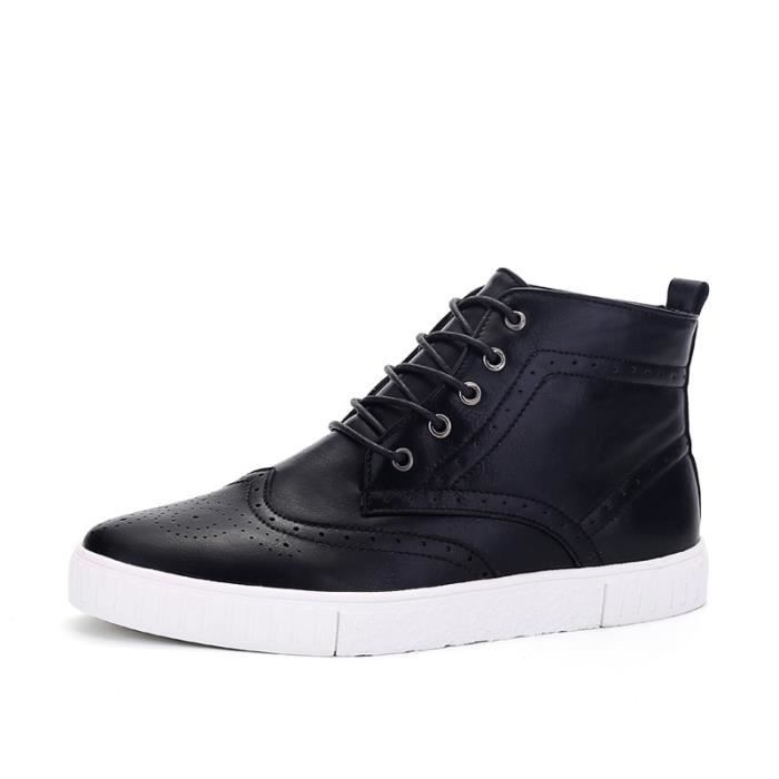 Botte Homme Casual Mocassins stretch antidérapanterouge taille9.5