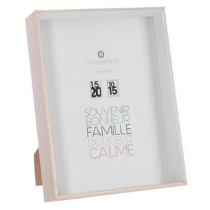 CADRE PHOTO Atmosphera - Cadre photo 3D blanc 10x15 L, 15,5 x