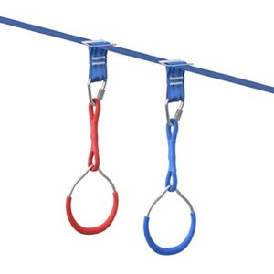 YYCFB Anneaux de gymnastique color/és pour balan/çoire Obstacle Singe Pour Ninja Line