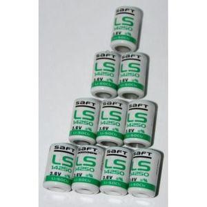PILES 10 Piles Lithium 3.6V 1250mAH 1/2 AA LS14250 SAFT
