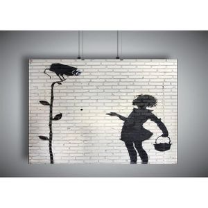 AFFICHE - POSTER Poster BANKSY GIRL STREET ART GRAFFITI Wall Art -