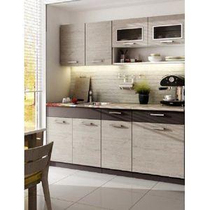 CUISINE COMPLÈTE TOAZE chêne gris 1m80 / 5 meubles