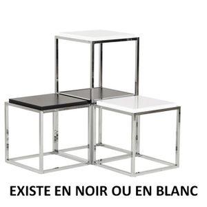 PETIT MEUBLE RANGEMENT  MUL - Lot de 3 - Cube de rangement noir empilable