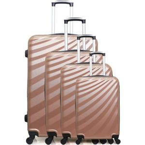 SET DE VALISES SET DE 4 VALISES DANUBE-M ROSE DORE