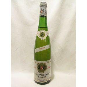 VIN BLANC gewurztraminer adam (capsule abîmée) blanc 1973 -