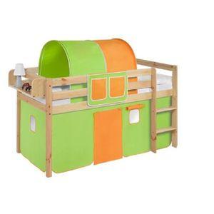 LIT COMBINE  Lit surélevé ludique JELLE vert orange - avec ride