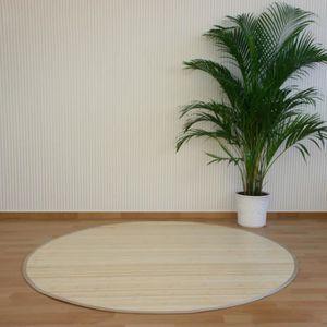 TAPIS Tapis rond en bambou Naturel 150 cm
