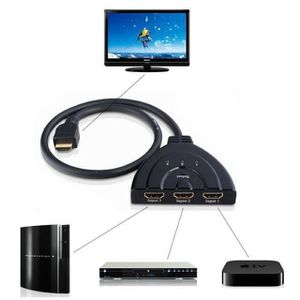 REPARTITEUR TV Hdmi Répartiteur switch commutateur avec cable 3 e