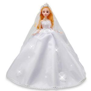 POUPÉE princesse blanche robe de mariée jouet modèle de c