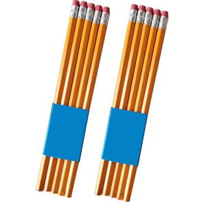 CRAYON GRAPHITE 10pcs étudiants crayon HB avec gomme en caoutchouc