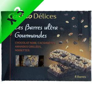 BARRES CHOCOLATÉES [LOT DE 3] CASINO DELICES Barres Chocolat Noir - 1