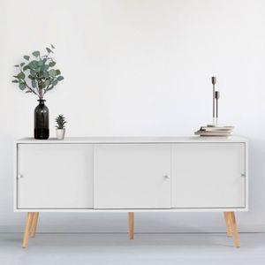 BUFFET - BAHUT  Buffet Effie scandinave bois blanc