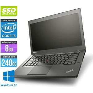 Top achat PC Portable Pc portable Lenovo T440 -Core i5-4300U -8G -240G SSD -Win. 10 pas cher