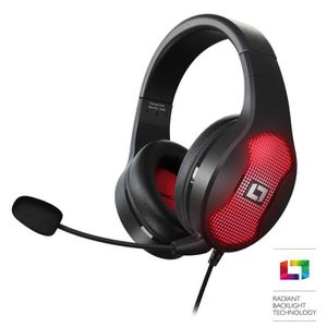 CASQUE AVEC MICROPHONE Lioncast LX30 Casque Gamer - Son Surround 7.1 Virt