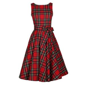 ROBE Robe Les années 50 femmes , 1950 s, rouge vintage