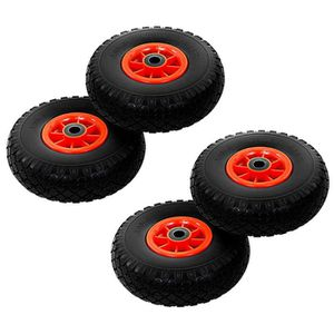 2x roues pivotantes 260 mm x 85 mm 3.00-4 Roue Pneus à air pneus 2x Poulies orientables