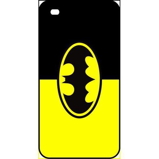 Coque apple iphone 4s batman logo jaune et noir