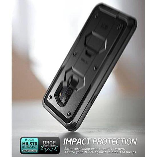 i-Blason Coque Samsung Galaxy S9 Plus, [Série Armorbox] Coque Anti-Choc avec Béquille sans Protecteur d'écran [Protection Intégrale