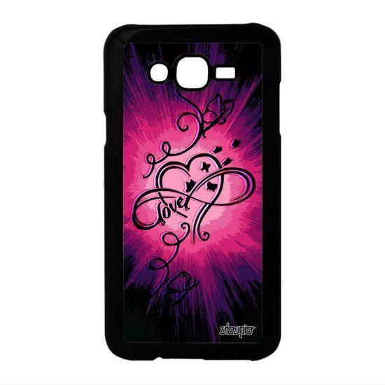 Coque infini love Samsung Galaxy J7 amour illimité swag espoir ...