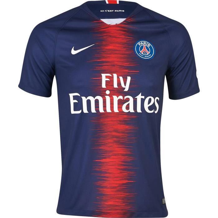 NIKE Maillot de football PSG Domicile 18 - Homme - Bleu