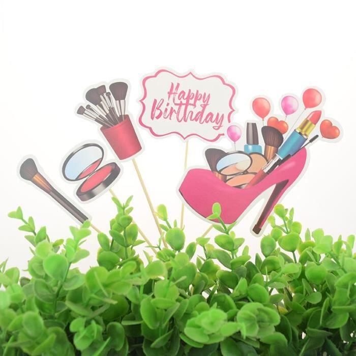 Décoration de gâteau à talons hauts pour fille, nouveau sac à lèvres, cosmétiques, fête d'anniversaire, parfum, [A82FCA6]