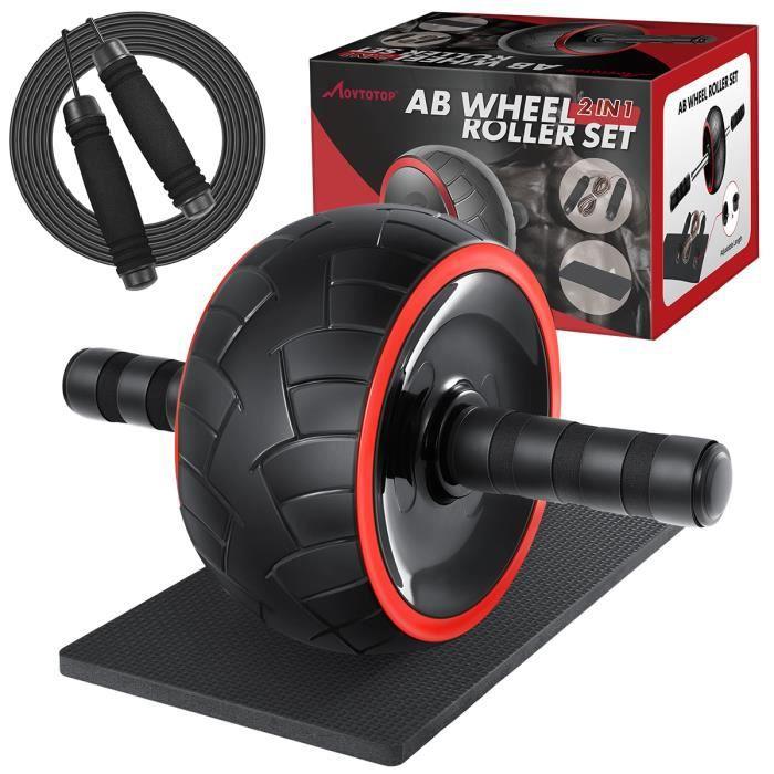 Rouleaux Ab & corde à sauter - MOVTOTOP - Pas de bruit pour l'exercice - Fitness