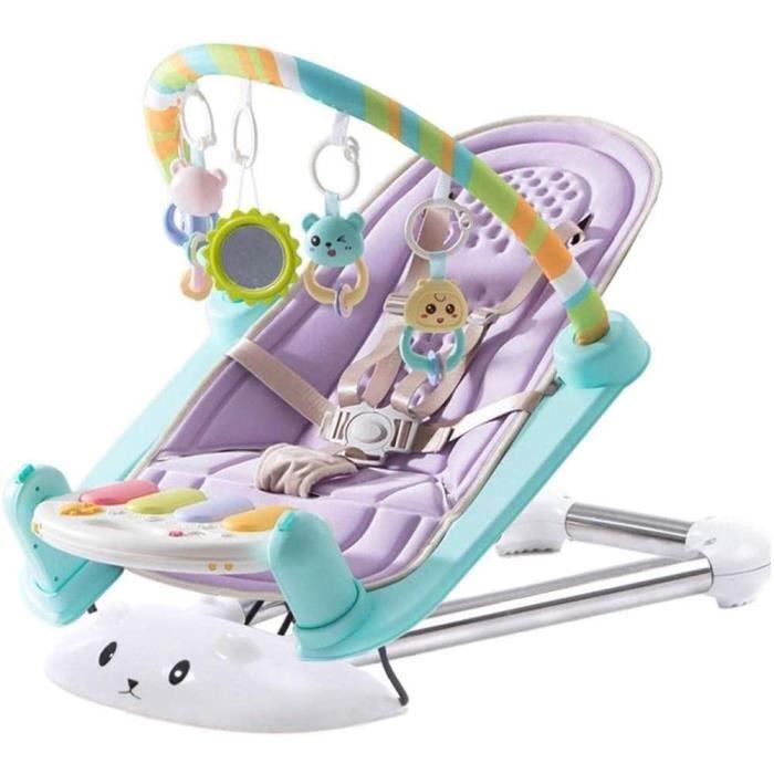 Bébé Rocking Chair, électrique Multi-Fonction Rocking Chair, Comfort Recliner Choc Pliant Portable Enfants Rocking Chair Seat (Color