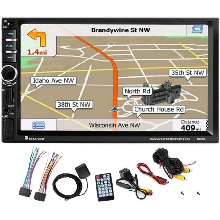 MuChangZi 7 Pouces HD 2 Din Autoradio Navigation GPS Écran Tactile Miroir Lien Autoradio MP5 Lecteur Bluetooth avec TF-SD-AUX-US167