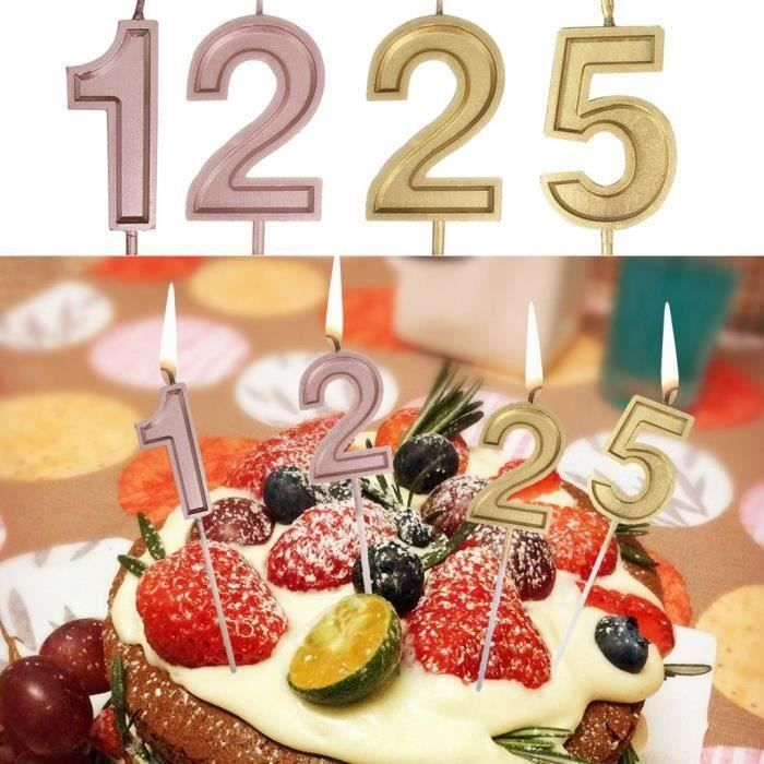 objet décoratifNumber 1225 Birthday Numeral Candles Number Cake Decor for Adult-Kids PartyYYW81115086SAN10729 Gr21043
