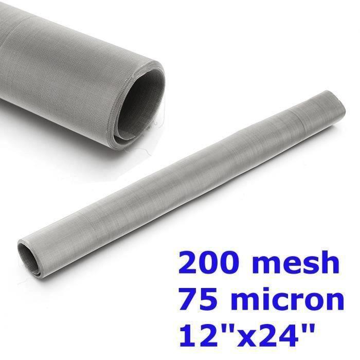 304 Acier 200 mesh 75 micron filtre Filtration Screen Dry Ice Pollen 30x60cm L14737