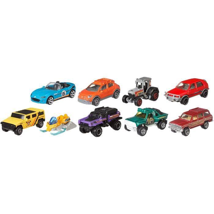 VEHICULE MINIATURE ASSEMBLE ENGIN TERRESTRE MINIATURE ASSEMBLE Matchbox coffret 9 v&eacutehicules, jouet pour enfant de petit255