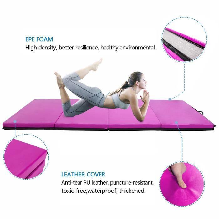 C1N 240*120*5cm Tapis de Gymnastique Pliable-Violet