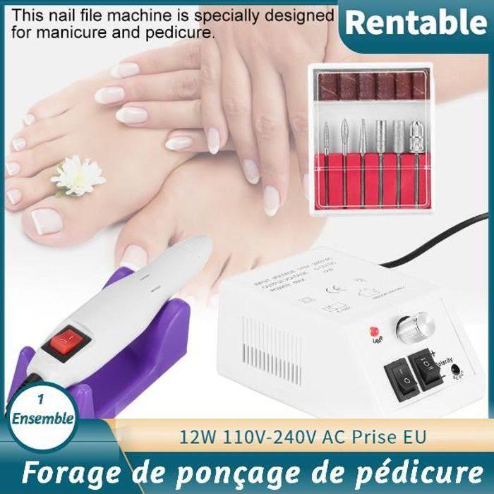Kit Ponceuse à Ongles Polissoir Appareil Electrique Nail Drill Professional pour Ongle Pied HB0044