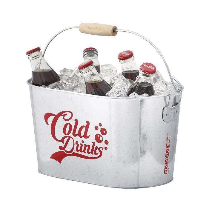 Refroidisseur de boissons Cold Drinks. Seau métallique pour raffraichir