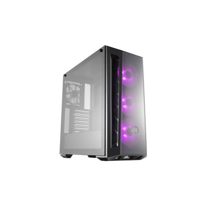 Cooler Master MasterBox MB520 RGB, Boîtier Midi-tour, PC, Plastique, Acier, Verre trempé, ATX,Micro-ATX,Mini-ITX, Noir, Jouer