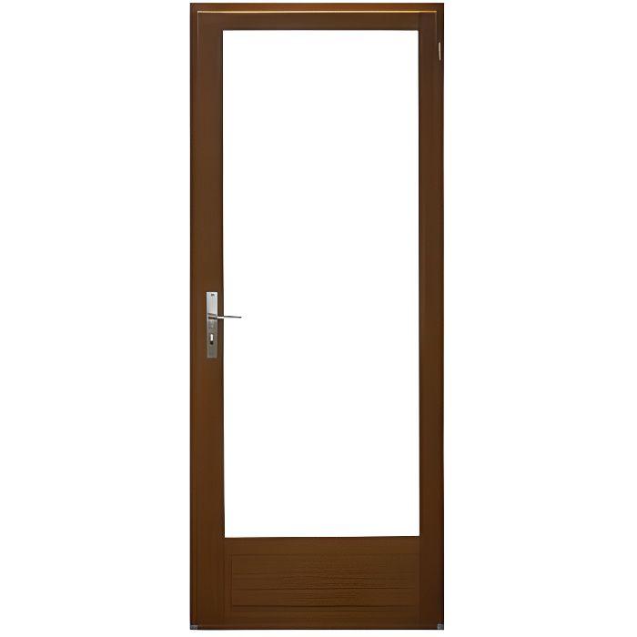 Porte Fenêtre 1 vantail en bois exotique Hauteur 205 X Largeur 80 TIRANT DROITE(cotes tableau)