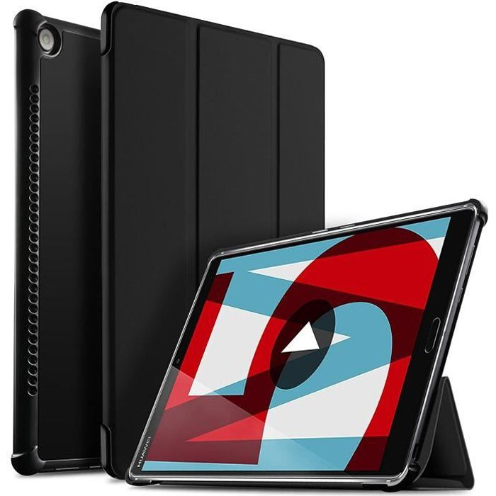 Ivso Huawei Mediapad M5 10.8 Etui, Ultra Slim Pu Leather etui Housse pour Huawei Mediapad M5 10.8 , Noir