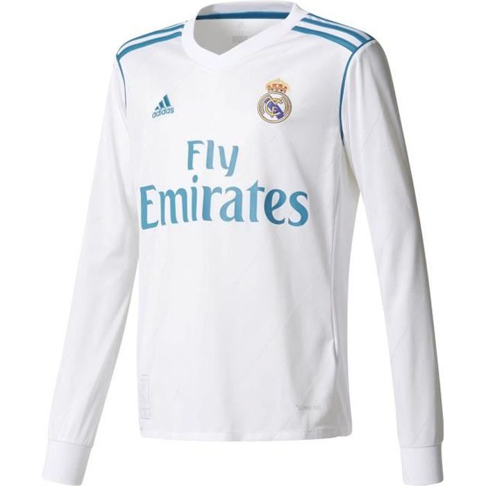 Maillot Domicile junior manches longues Real Madrid 2017-2018