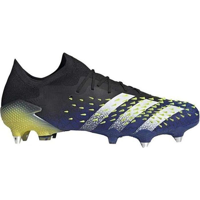 Adidas Predator Freak .1 L Sg, Chaussures de Football Homme, Core Noir / Ftwr Blanc / Solar Jaune, 42 Eu