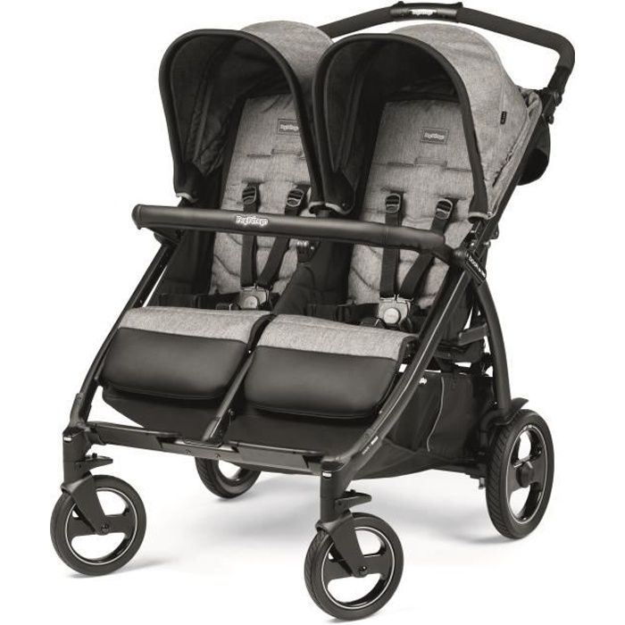 PEG PEREGO Poussette Double Book For Two - Gris cinder