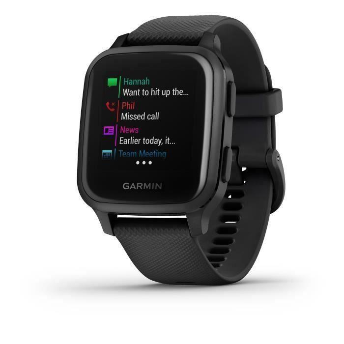GARMIN Venu Sq Edition Musique - Black/Slate - Montre GPS de sport connectée santé et bien-être