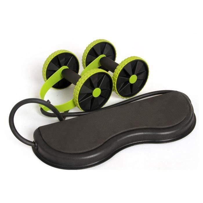 Rouleau abdominal roue alternative multifonctionnelle AB rouleau abdominal rouleau abdominal pour la formation SIT-UPS vert