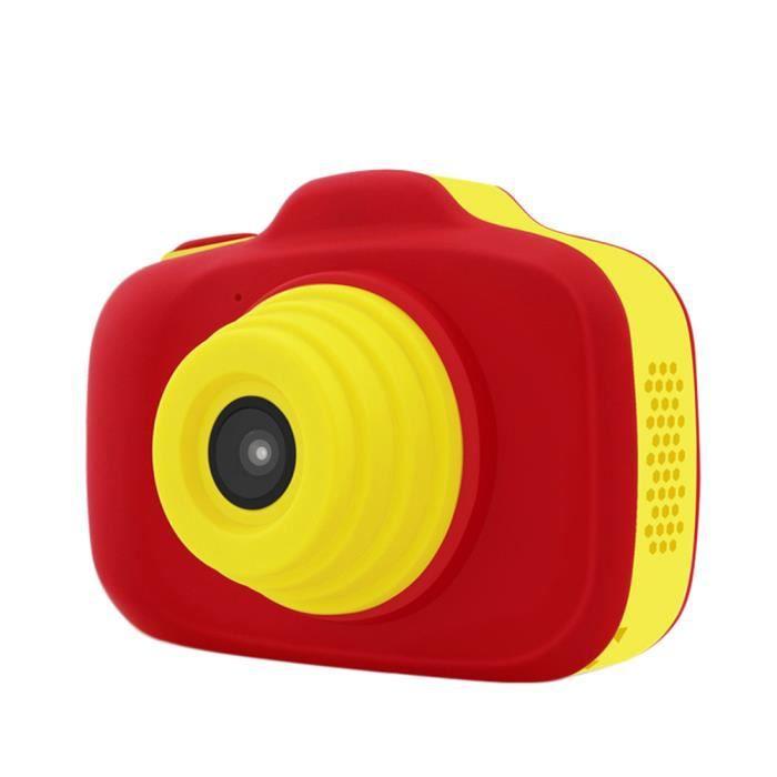 Caméra Enfant, Appareil Photo Numérique Antichoc, Double objectif, écran HD de 2,3 pouces - Rouge