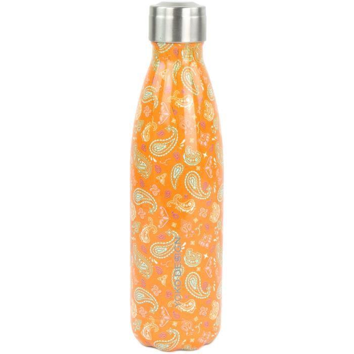 YOKO DESIGN Bouteille isotherme de 500 ml au motif Cachemire Orange