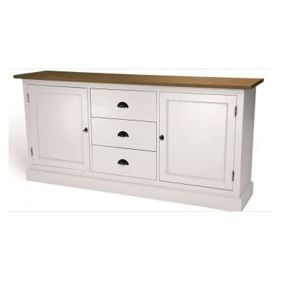 rimini buffet blanc en bois achat vente buffet bahut rimini buffet blanc en bois cdiscount. Black Bedroom Furniture Sets. Home Design Ideas
