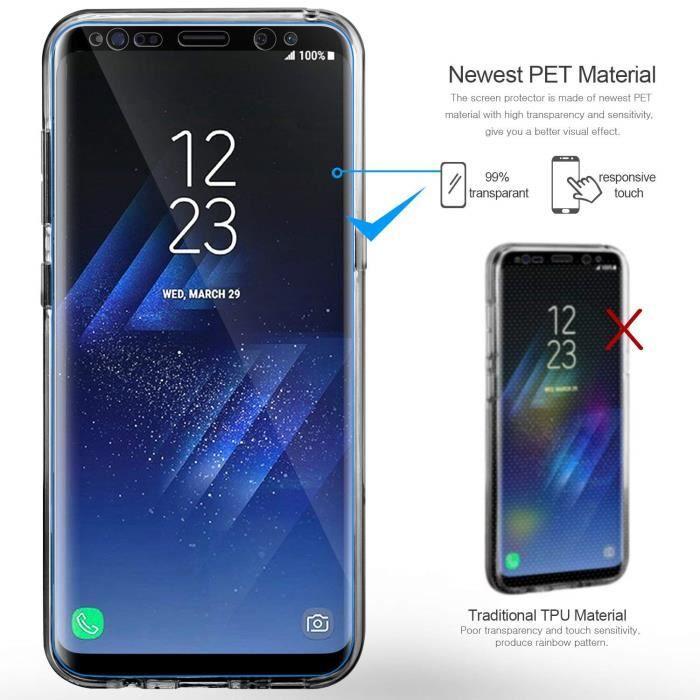 Coque Samsung Galaxy S9 Plus Etui, Leathlux Transp