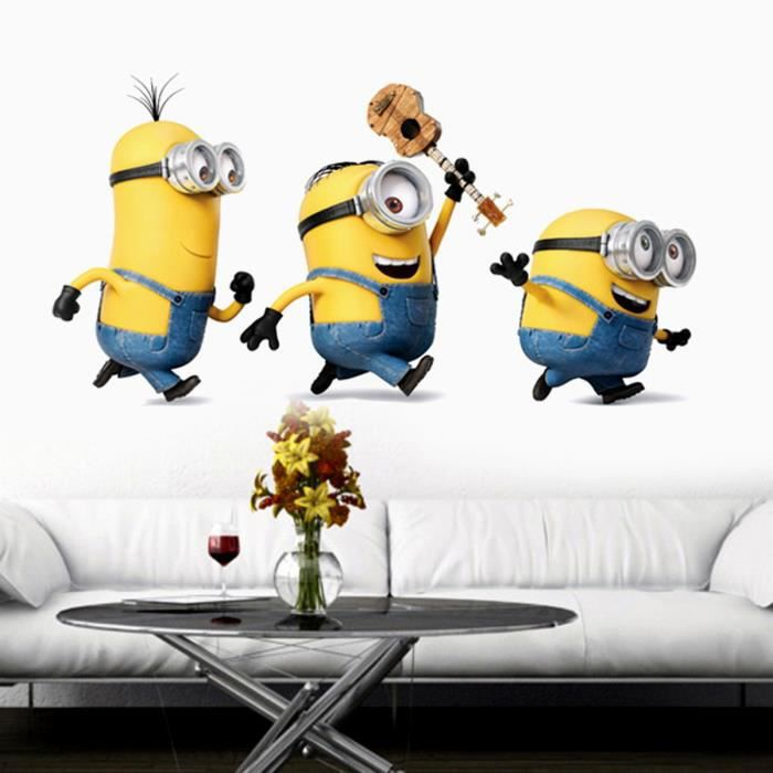 papier peint les minions achat vente papier peint les minions pas cher cyber monday le 27. Black Bedroom Furniture Sets. Home Design Ideas